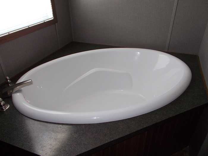 Upgrades options factory expo home centers Fiberglass garden tubs